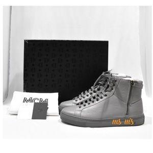 NIB MCM Leather High Top Sneakers sz EU43 US10